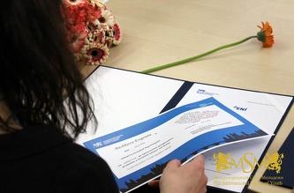 Вручення сертифікатів ČVUT