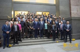 Встреча студентов МСМ со спикером парламента РK Нурланом Нигматулиным